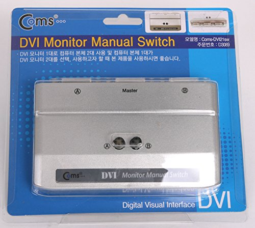 Coms DVI Manual Switch Selector Box Tv LCD Monitor 2 Port Switcher