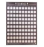 Gift Republic 100 Movies Bucket List Scratch Poster