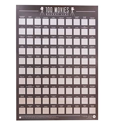 Gift Republic 100 Movies Bucket List Scratch Poster