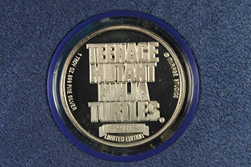 1990 Various Mint Marks Teenage Mutant Ninja Turtles 1 Troy Oz. Round Proof