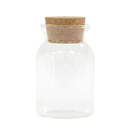 Procook Glass Storage Jar With Cork Lid Mini Amazoncouk Kitchen