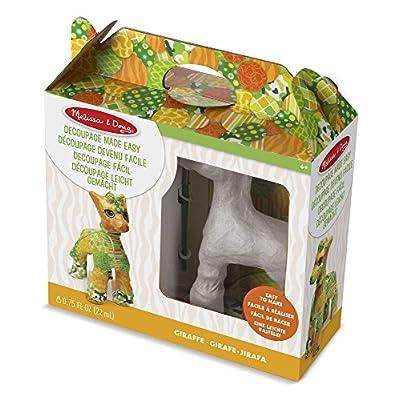 Melissa & Doug Decoupage Made Easy Craft Set - Giraffe: Toys & Games
