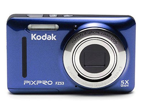 Kodak FZ53-BL Point and Shoot Digital Camera with 2.7″ LCD, Blue