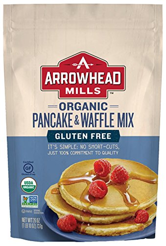Arrowhead Mills Organic Gluten Free Pancake and Waffle Mix, 26 oz. Bag