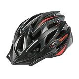 Uzexon MOON Cycling Bike Helmet (M, Black Red)