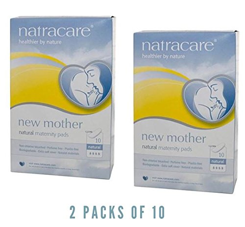 Natracare 3045 New Mother Maternity Pads 10 Count (2 packs x 10) - New Mother Natural Maternity Pads