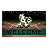 Fanmats 21928 Team Color Crumb Rubber Oakland Athletics Door Mat, 1 Pack
