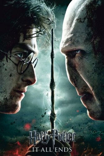 Harry Potter And The Deathly Hallows - Part 2 - Movie Poster (Harry Vs. Valdemort) (Size: 24