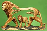 Unison Gifts MMD-185 8 In. Lion Woodlike Carving