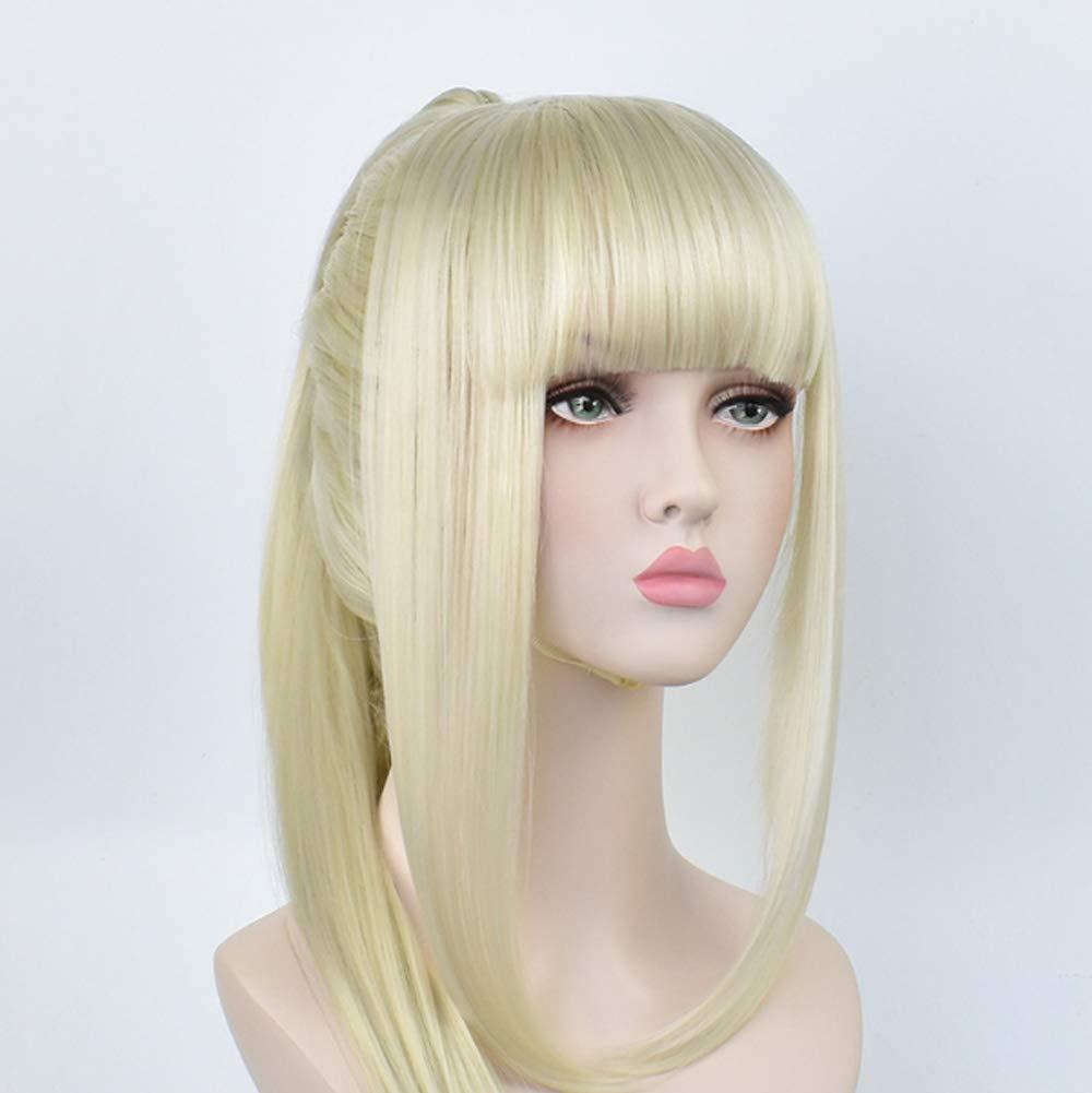 Sgsg Cosplay larga recta realista peluca mujer Fibra resistente al ...