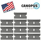 single edge razor blades utility - Single Edge Industrial Razor Blades, Box Cutter Replacement Blades, Glass Scraper Razor Blades By Canopus (10 Pack) - Fits ALL Standard Tools - %100 Made in USA