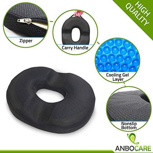 Amazon.com: Cojín para asiento de hemorroide de Donut, gel ...