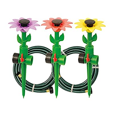 Melnor Multi Adjustable Lawn Sprinkler on a Spike with Integrated Flow-Control, Waters Up to 30 ft