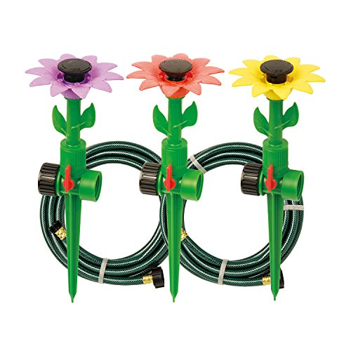 - Melnor Multi-Adjustable Sprinklers and Garden Hoses Kit, Covers up to 1,800 sq. ft. - Can be Easily Customized for Your Special Watering Needs