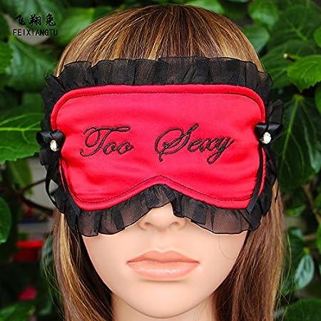 9c1722fa5 Silk Luxury 100% Silk Sleep Mask Eye Mask Red Black Lace Sexy Too Sleep Eye  Mask Blindfold sleeping Eye Mask (EVERYTHING-£ © Cheap  Amazon.co.uk   Kitchen   ...
