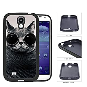 Funny Cat With Round Glasses Rubber Silicone TPU Cell Phone Case Samsung Galaxy S4 SIV I9500