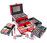 make up kit for starters - SHANY All In One Makeup Kit (Eyeshadow, Blushes, Powder, Lipstick & More) Holiday Exclusive