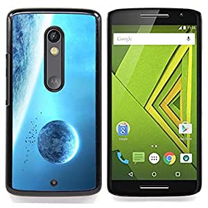 For Motorola Verizon DROID MAXX 2 / Moto X Play - Space Planet Galaxy Stars 7 /Modelo de la piel protectora de la cubierta del caso/ - Super Marley Shop -