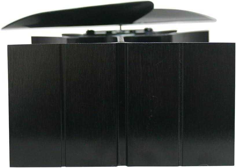 w/ärmebetrieben Lincsfire Ofenventilator mit 2 Fl/ügeln gratis Ofenthermometer umweltfreundlich f/ür Holz//Holzofen//Kamin leise