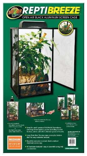 51oNK9zSfdL - Zoo Med ReptiBreeze Open Air Screen Cage, Medium, 16 x 16 x 30-Inches