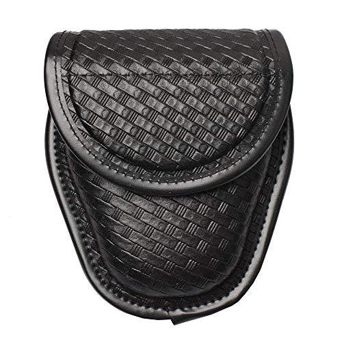 ROCOTACTICAL Basketweave Single Handcuff Case, Hidden Snap Handcuff Holder Pouch, Molded Single Cuff Case