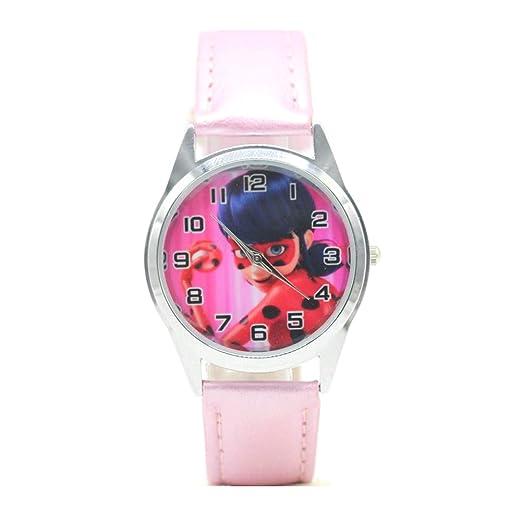 Miraculous Ladybug Reloj de Pulsera para niña niños Rosa niños: Amazon.es: Relojes
