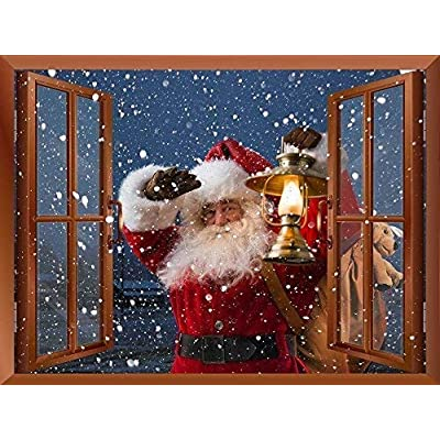 Removable Wall Sticker Wall Mural Santa Claus Carrying...