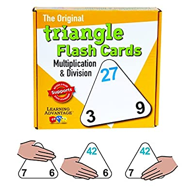Learning Advantage 4552 The Original Triangle Flash Cards, Multiplication and Division, Grade: 2 to 6, 6.5