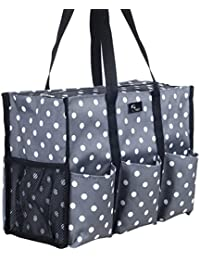 Teacher Bag with Pockets - Perfect Gift for Teacher's Appreciation and Christmas (Pop Lights)