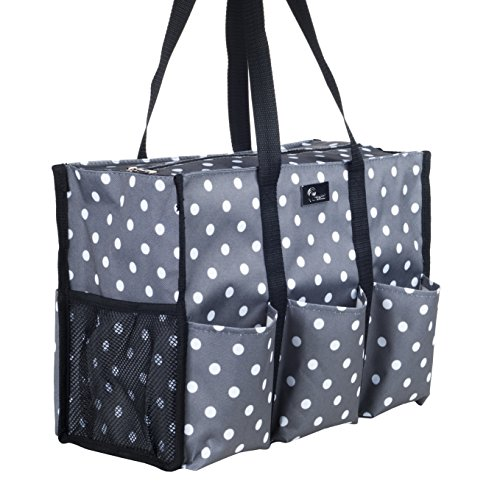 (Pursetti Teacher Bag with Pockets - Perfect Gift for Teacher's Appreciation and Christmas (Pop Lights) )