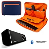 Travel Leatherette Sleeve For Samsung Galaxy Tab S 10.5 / Galaxy Tab 4 10.1 / Galaxy Tab Pro 10.1 + Bluetooth Speaker