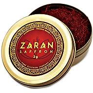 Zaran Saffron, Superior Saffron Threads (Premium) All-Red Saffron Spice (Highest Quality Saffron for you Paella, Risotto, Golden Milk, and Persian Rice and Tea) (Persian, 2 Grams)