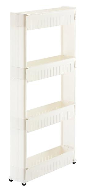 Orolay Estanteria para nichos Carrito de Cocina 4 estantes (Blanco)