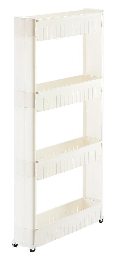 Orolay Estanteria para nichos carrito de cocina 4 estantes (Blanco ...
