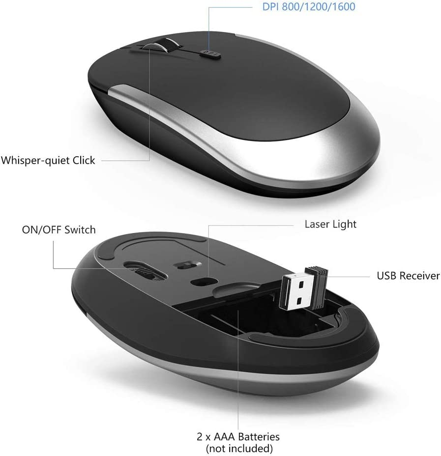 Color : White Zmsdt Ultra-Thin and Compact Full-Size Rechargeable Wireless Keyboard and Mouse Combination Notebook 2.4GHz Wireless Keyboard and Mouse