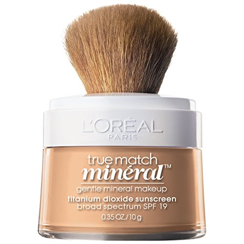 Loreal Bare Naturale Mineral Makeup - L'Oréal Paris Makeup True Match Loose Powder Mineral Foundation, Nude Beige, 0.35 oz.