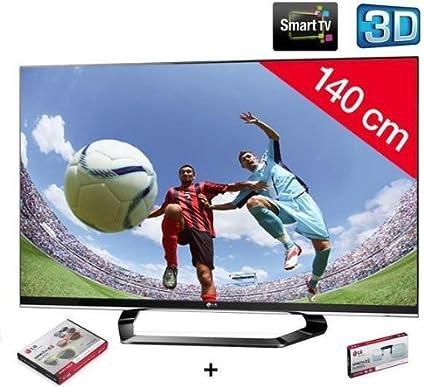 LG Televisor LED 3D 55LM660S HD TV 1080p, 55 Pulgadas (140 cm) 16/9, 400 Hz, DVB-T HD, 3D Ready, Ethernet, HDMI X4, USB 2.0 X3, con WiFi + 2 años de garantía: Amazon.es: Electrónica