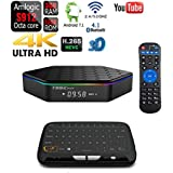 APTC T95Z Plus 32GB/3GB Android 7.1 Dual Wifi 5G Octa Core 1080p 4K 3D Amlogic S912 Bluetooth 4.1 Internet Streaming TV Media Set Top Box+Touchpad Wireless Keyboard Remote Bundle