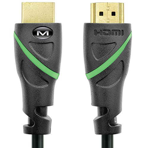 Mediabridge Flex Series HDMI Cable (10 Feet) Supports 4K@50/60Hz, High Speed, Hand-Tested, HDMI 2.0 Ready - UHD, 18Gbps, Audio Return Channel