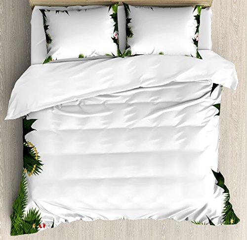 Ambesonne New Year Duvet Cover Set Queen Size, Frame Style G