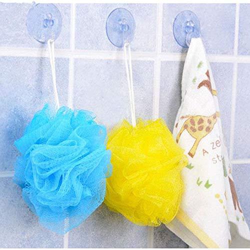 3Piece Flower Ball Bath Bucket Cooling Towel Shower Wash Sponge Scrubber Sody