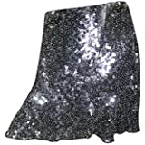Mogul Interior Bohemian Vintage Skirt Sequin Disco Chic Mini Skirts For Womens