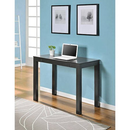 Parsons Desk with Drawer Multiple Colors Convenient pull out drawer for Espresso desk with drawer is the perfect size functional espresso desk Stylish look Product Dimensions: 39.33''L x 19.69''W x 30''H by Mainstay