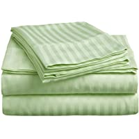 Bed 4 PCs Sheet Set -100% Egyptian Cotton - 400 Thread Count - 22 inch Deep Pocket of Fitted Sheet