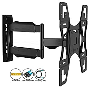 invision tv wall mount bracket with tilt and swivel 20 inch articulating arm ultra. Black Bedroom Furniture Sets. Home Design Ideas