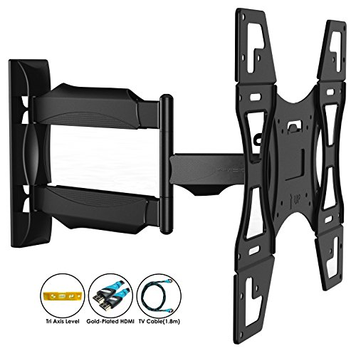 Invision TV Wall Mount Bracket with Tilt and Swivel 20 Inch Articulating Arm/Ultra Slim 1.8-Inch Wall Profile for Most 26 - 55 Inch LED/LCD/Plasma/4K/3D & Curved Screens (A2/HDTV-L)