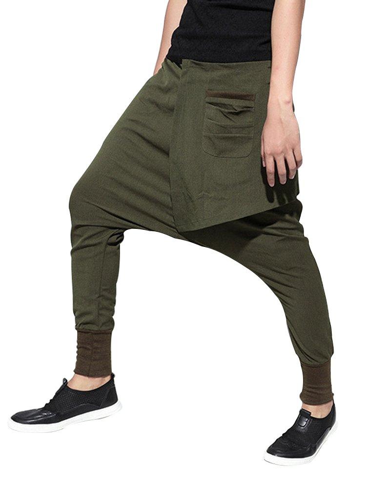 Gooket Women's Drop Crotch Terry Fleece Harem Pants