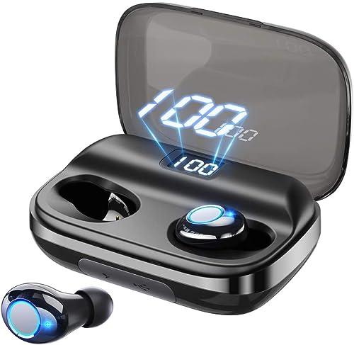 Bluetooth Earbuds GUSGU Wireless Earbuds Deep Bass Earphones Noise Cancelling Waterproof Wireless Bluetooth Headphones 145H Cycle Playtime Auto Pairing,Binaural Call,4000mAh LED Display Charging Case