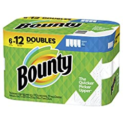 Don't let spills and messes get in your way. Lock in confidence with Bounty, the Quicker Picker Upper*. This pack contains Bounty white Select-A-Size paper towels that are 2X more absorbent* and strong when wet, so you can get the job done qu...