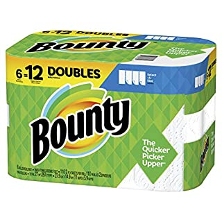 Bounty Select-A-Size Paper Towels, White, 6 Double Rolls (Equal to 12 Regular Rolls), Prime Pantry